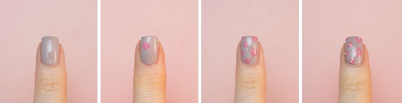 floral nails tutorial