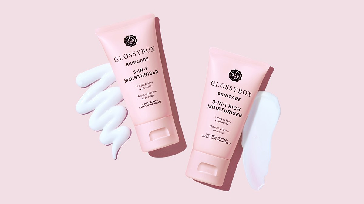 Introducing The GLOSSYBOX Skincare 3-in-1 Moisturisers