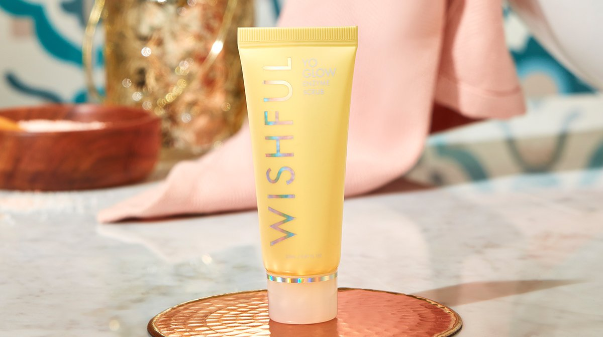 Huda's WISHFUL Yo Glow Enzyme Scrub Is In Our September Box!