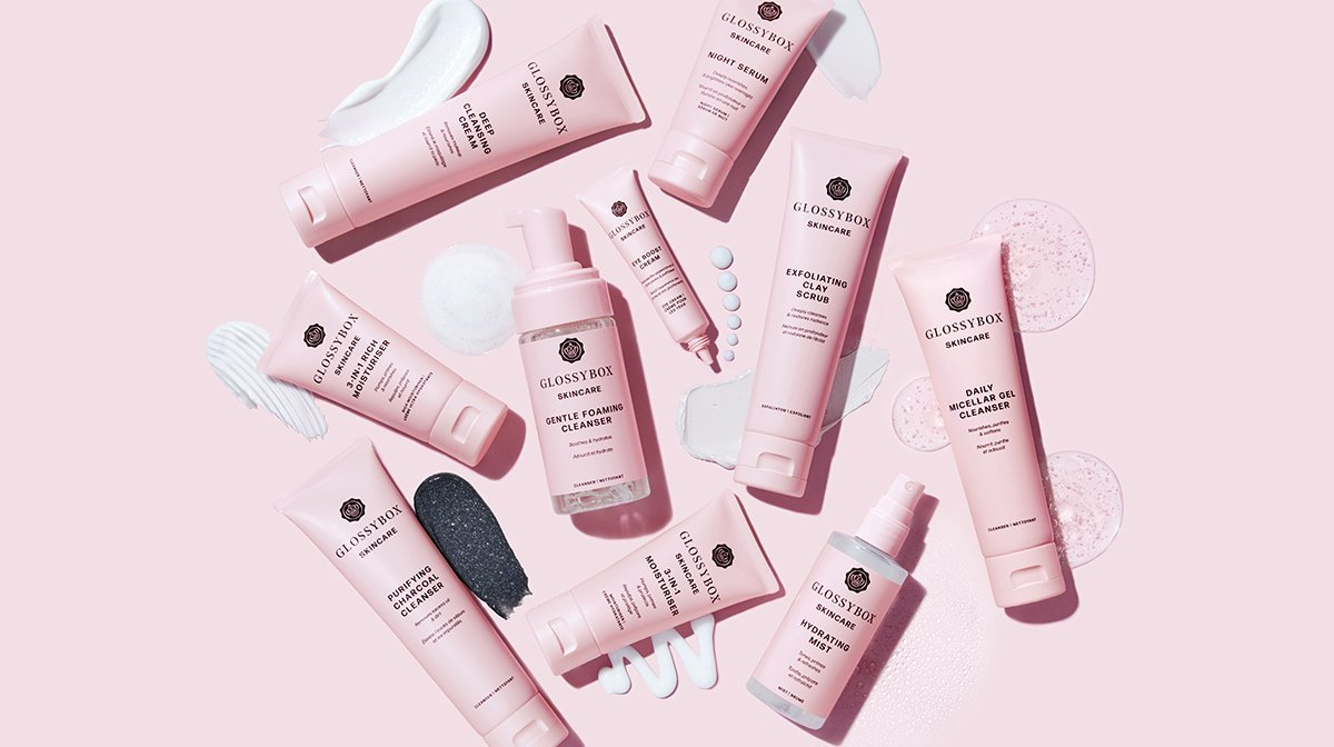 glossybox-skincare-full-product-range