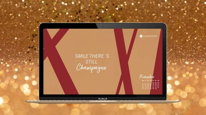 Golden November: Deine GLOSSY Wallpaper zur Gold & Champagne Edition!