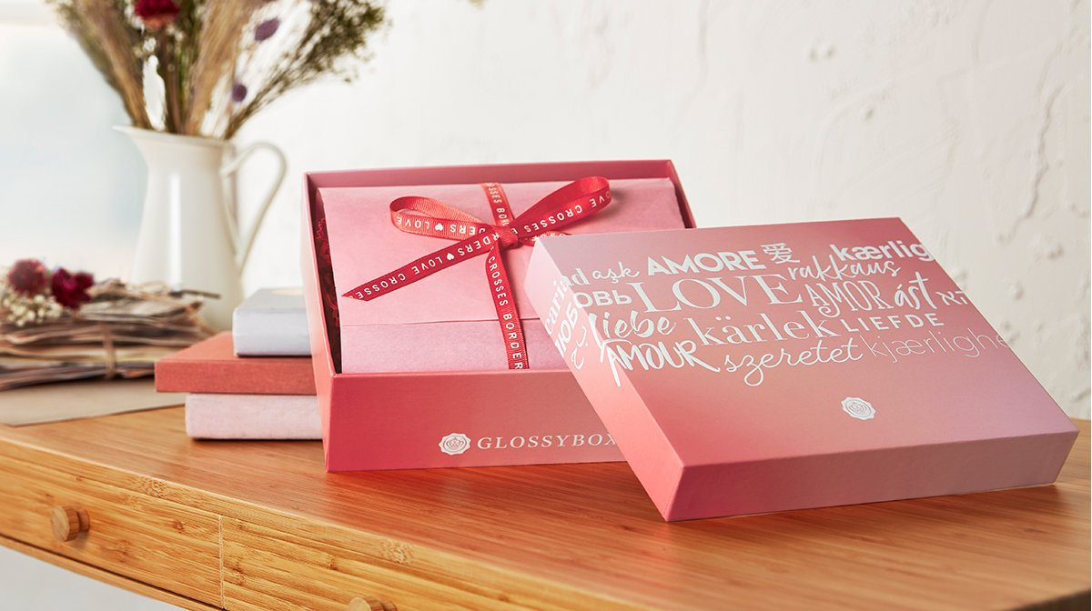 So in love! Die GLOSSYBOX Love crosses borders Edition im Februar ist da!