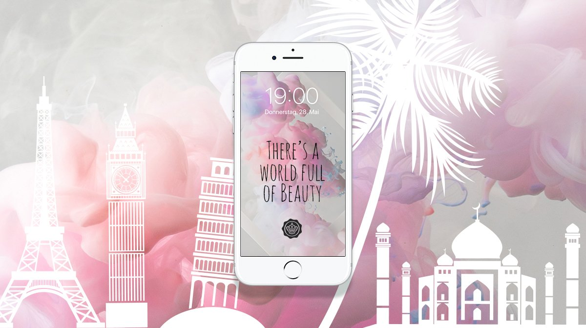 GLOSSY Wallpaper Juni: World of Beauty für Smartphone und PC