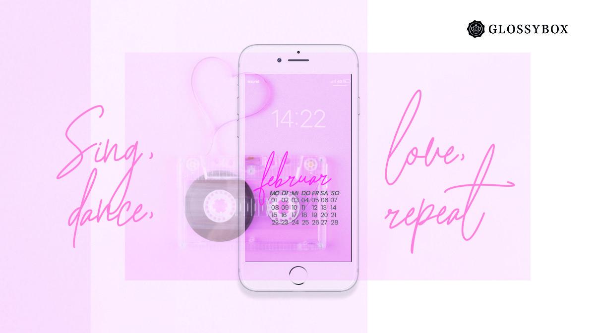 Glossy Wallpaper im Februar: GRATIS Retro Vibes für dein Smartphone!