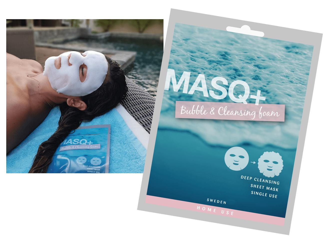 Glossybox testar: MASQ+ Bubble & Cleansing Foam