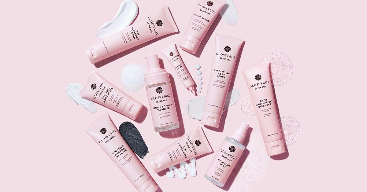 GLOSSYBOX Skincare: Upptäck 10 Nya Powerprodukter
