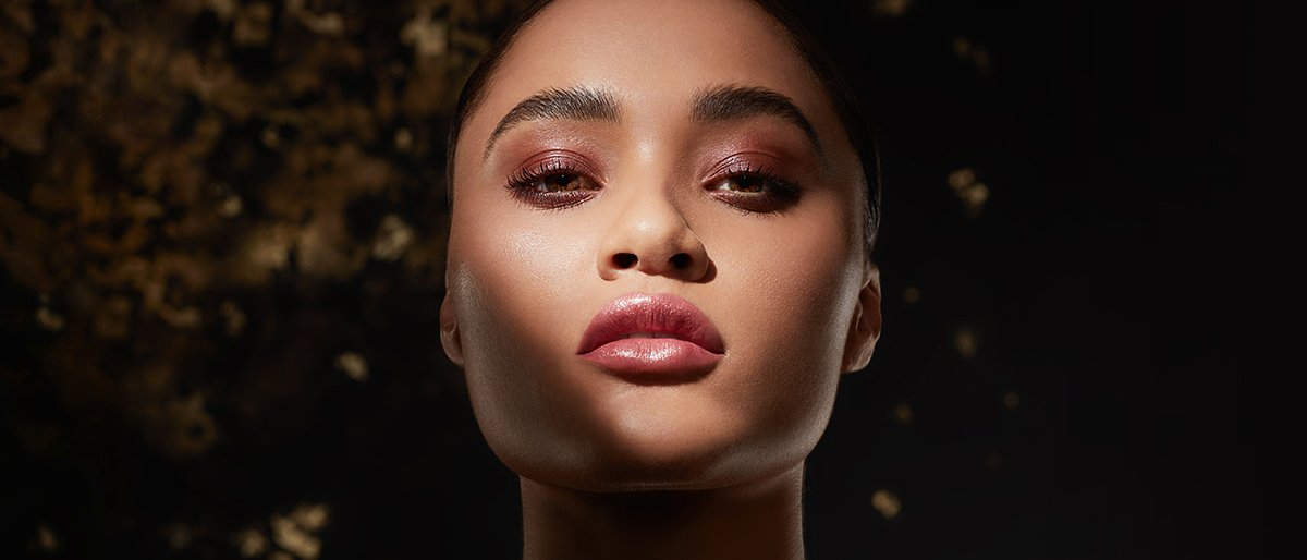 Model in glow makeup