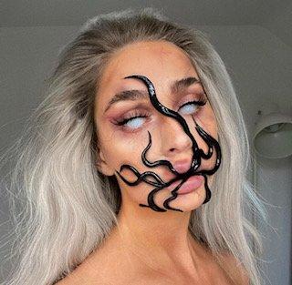 Halloween makeup, sea creature