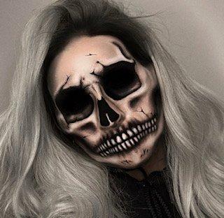 Halloween makeup, skull