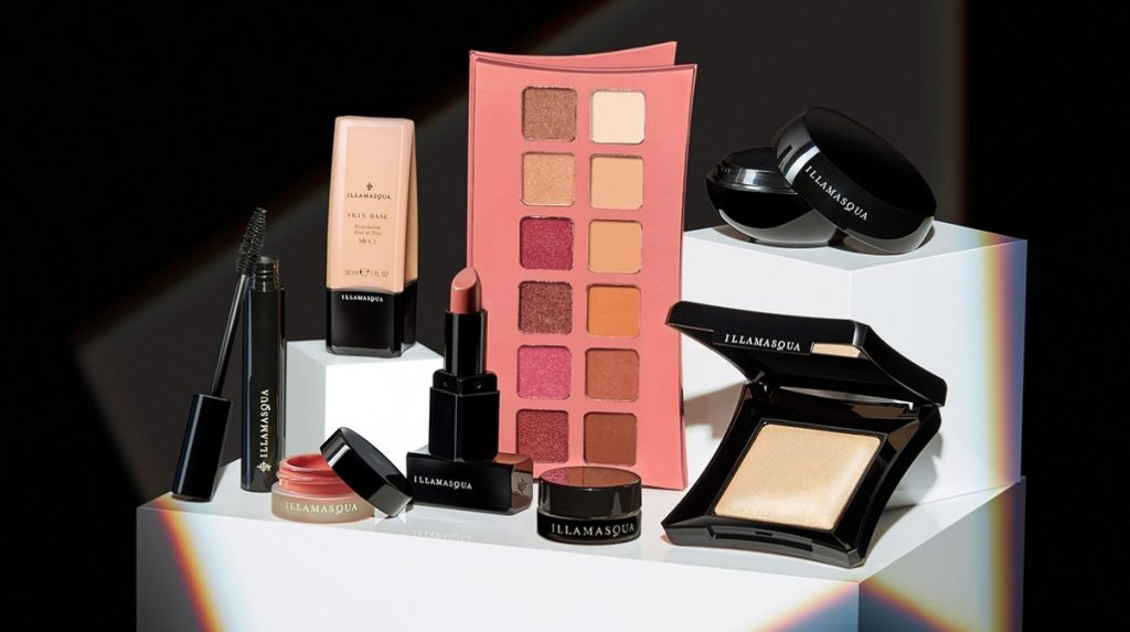 Illamasqua best-selling makeup products, eyeshadow, blusher, highlighter, foundation, lipstick, primer