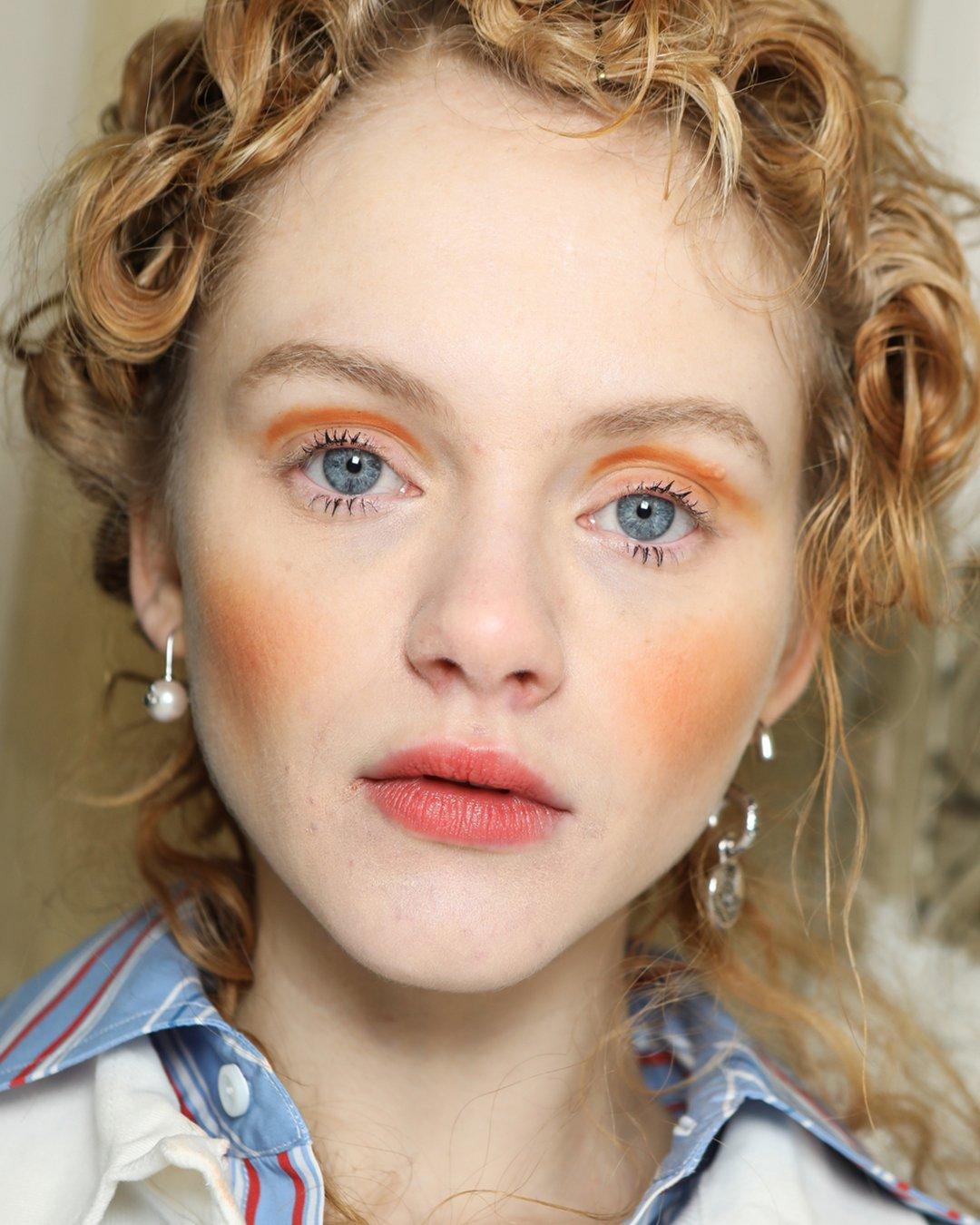 modern cherub makeup