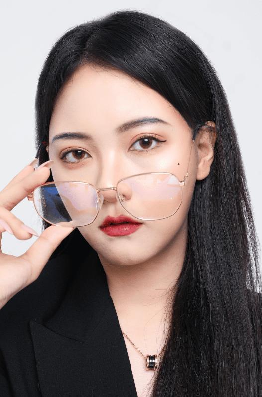 Model wearing bold loaded lip gloss