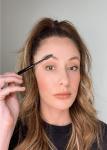Comb through Brows, simple brow makeup routine