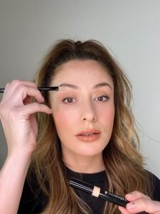 Concealer under the eyebrows to shape