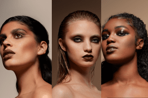 Pressed Powder Foundation on models
