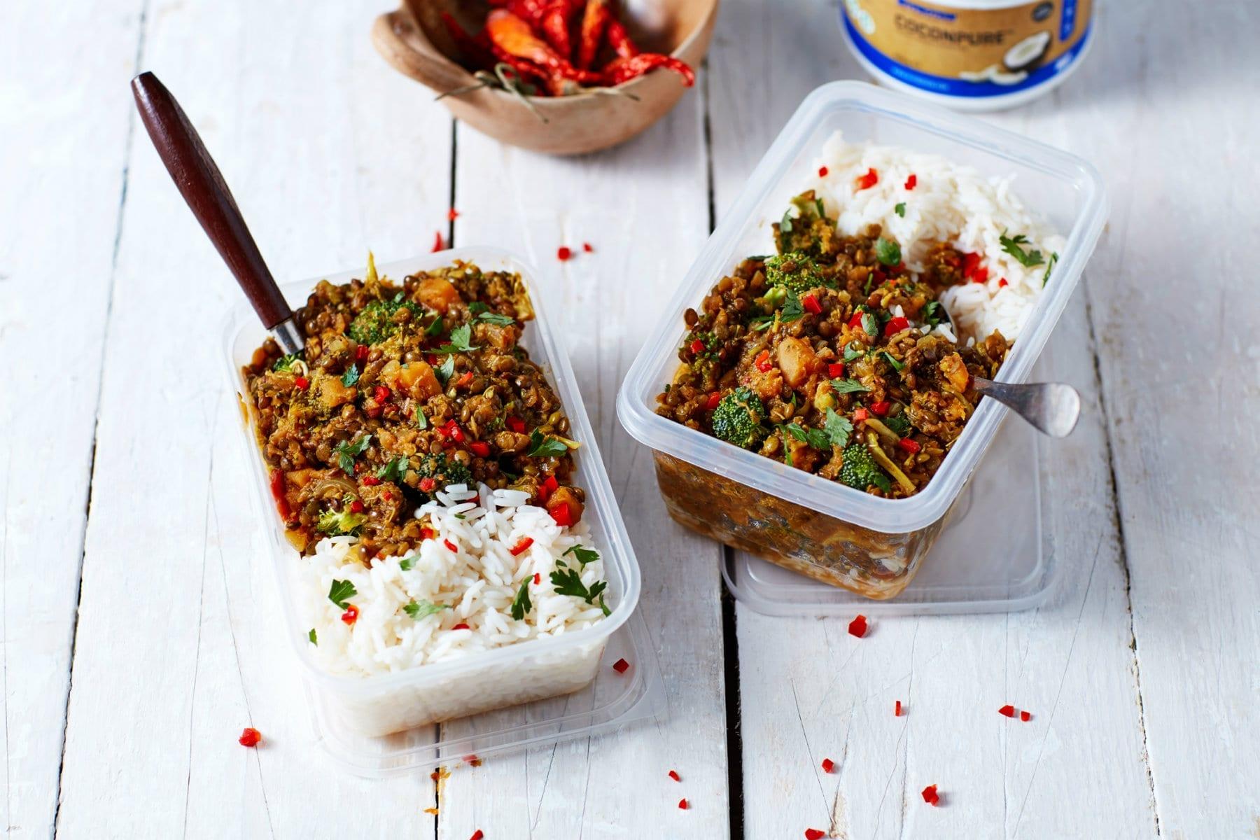 One-Pot Lentil Dahl & Homemade Naan | Easy Vegan Meal Prep