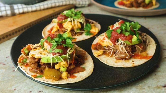 Breakfast Tacos   High-Protein Breakfast Ideas