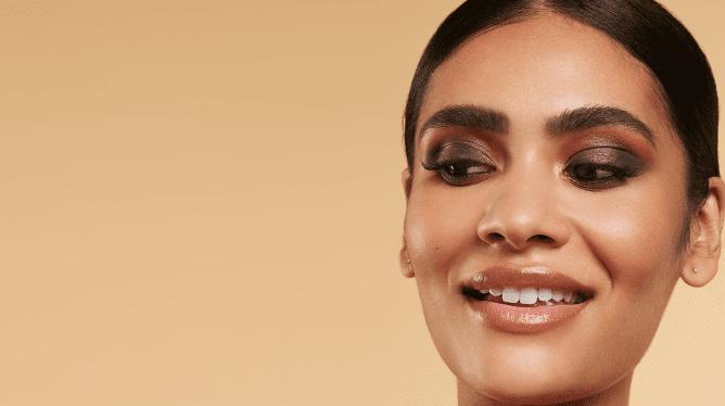 Model wearing eyeshadow