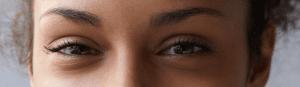 Model with almond eye shape