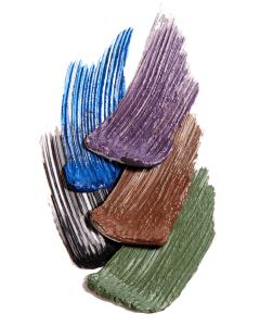 Coloured mascara swatches