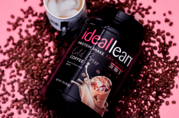 Coffee beans around the Cold Brew Coffee Protein