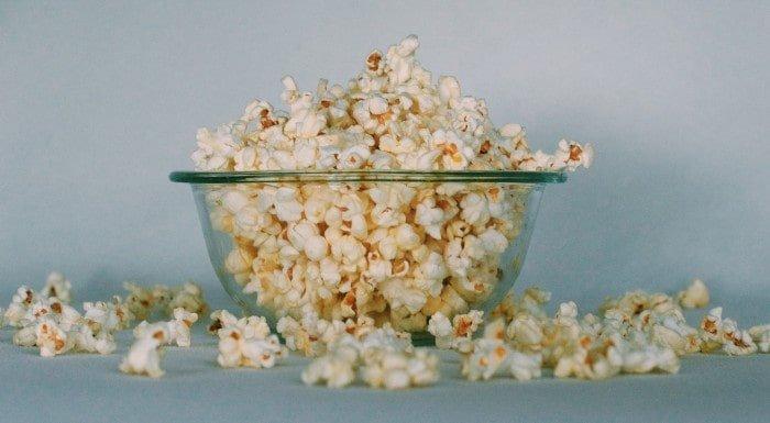 popcorn zawierający błonnik pokarmowy