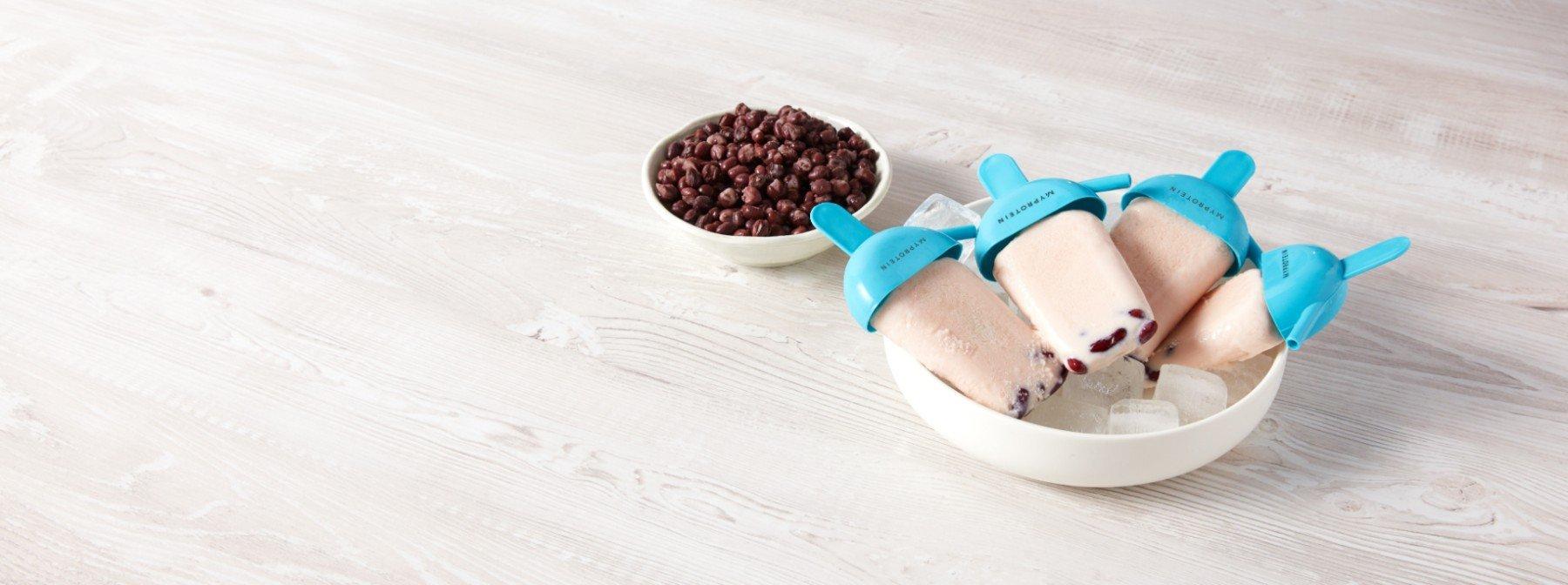 高蛋白紅豆牛奶冰棒 | 食譜