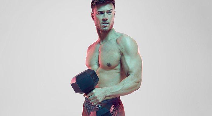 男運動員健身