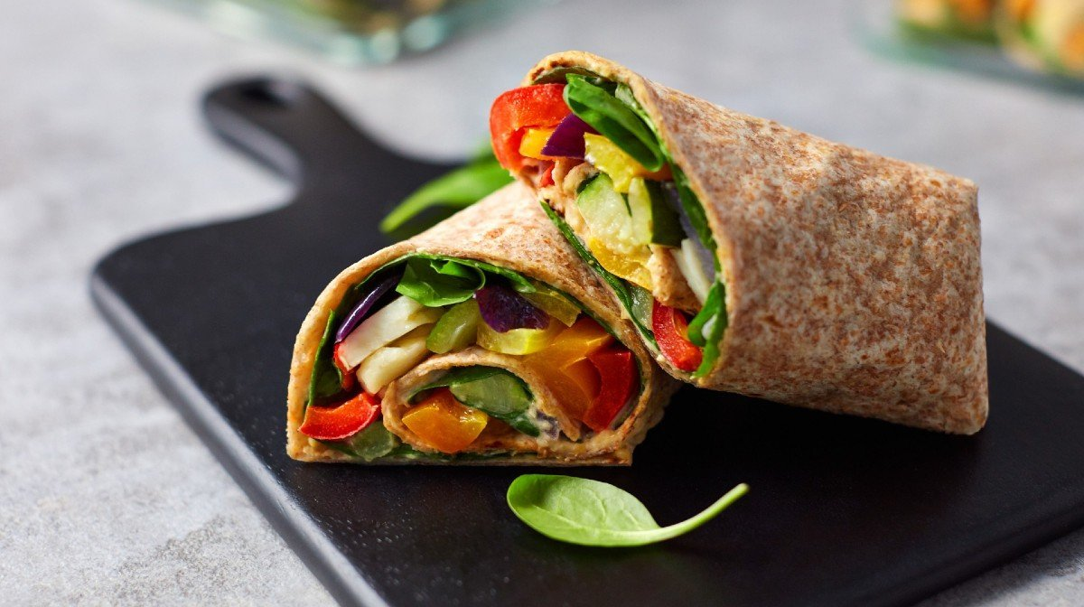 One-Tray Roasted Halloumi Wraps | Macro-Balanced Meals