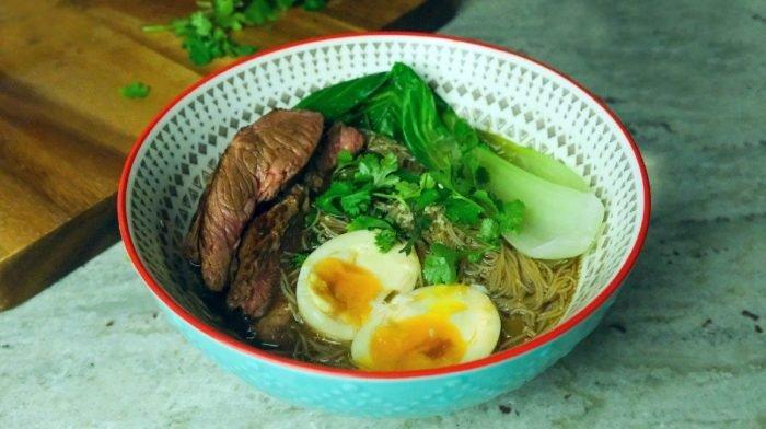 Beef Ramen Noodles | High-Protein Dinner Ideas