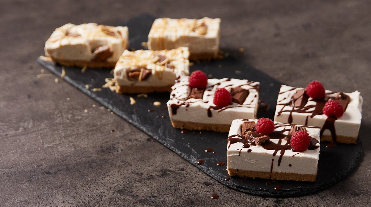 5-Ingredient Cheesecake Bars – 2 Ways