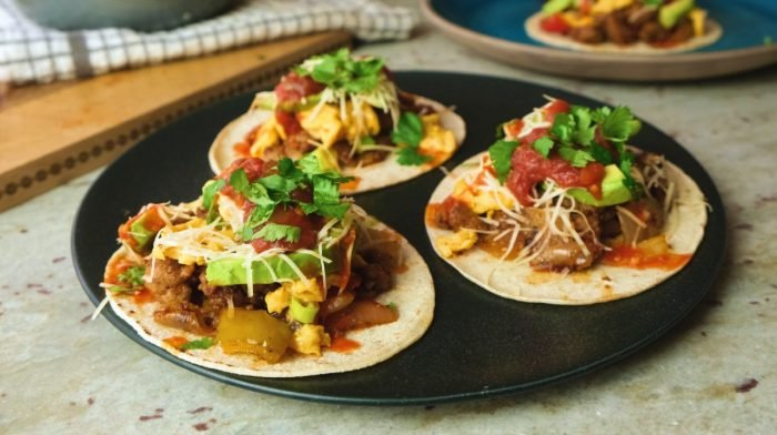 Breakfast Tacos | High-Protein Breakfast Ideas