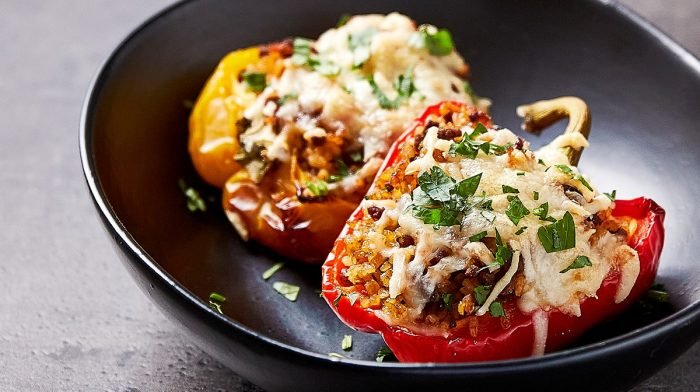 Stuffed Peppers With Beef Mince & Bulgur Wheat | Mood-Boosting Foods