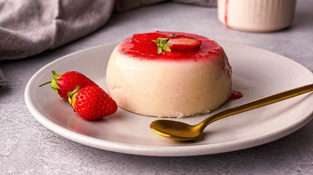 High-Protein Panna Cotta | Healthy Dessert