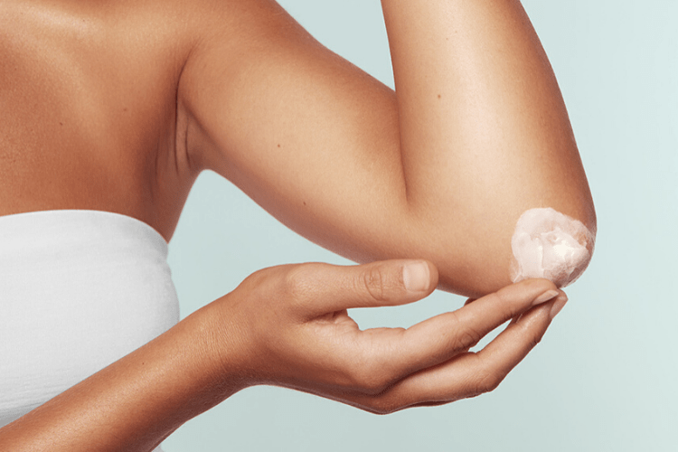 dry skin areas on body
