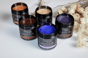 Five salon haircare products by Christophe Robin for helping to enhance and maintain hair colour.