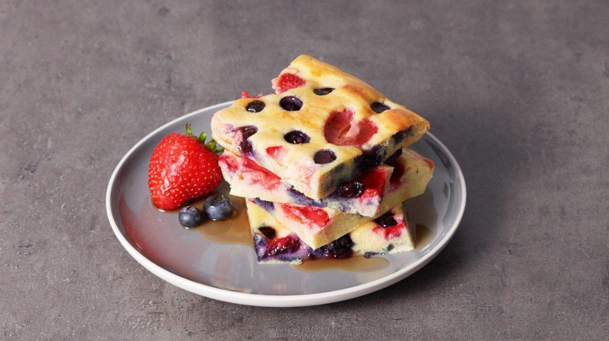 Proteínová bublanina s ovocím | Tip na jednoduché fitness raňajky