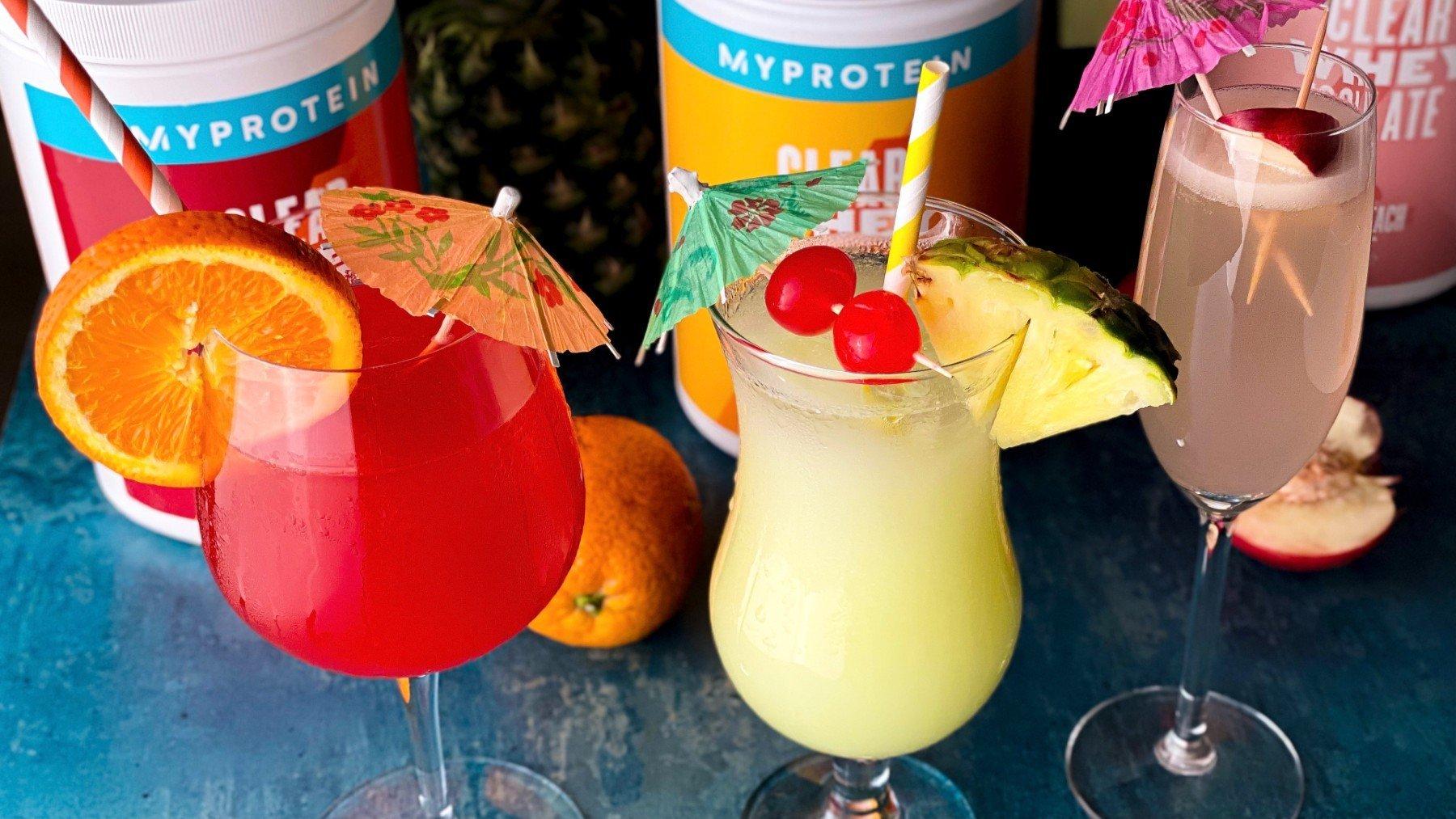 3 osviežujúce drinky plné bielkovín s Clear Whey Izolátom