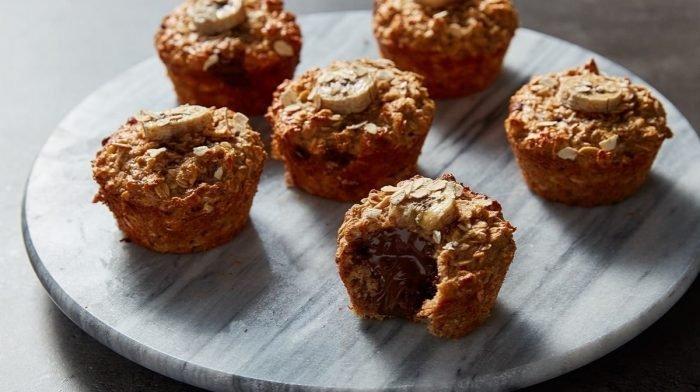 Banánové muffiny plnené čokoládou | Zdravý achutný snack