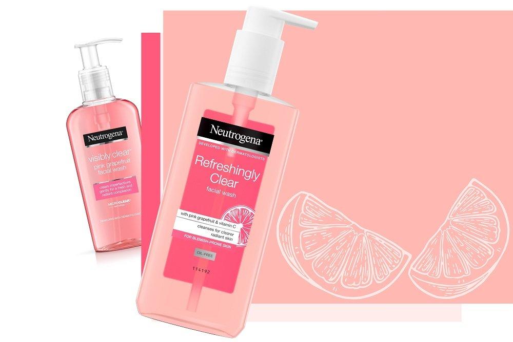 neutrogena pink grapefruit and neutrogena refreshingly clear