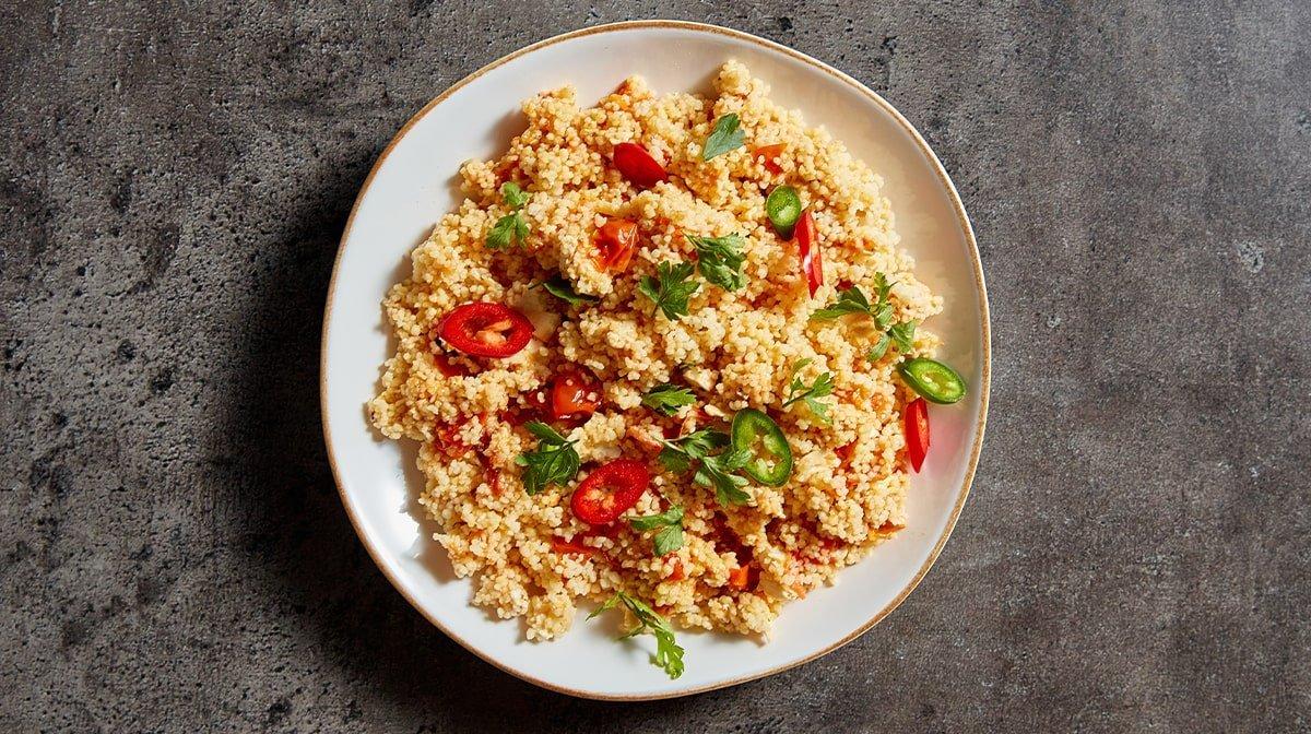 Ugnsbakad feta och couscous | Sommarens meal prep