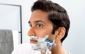 shaving with shaving cream