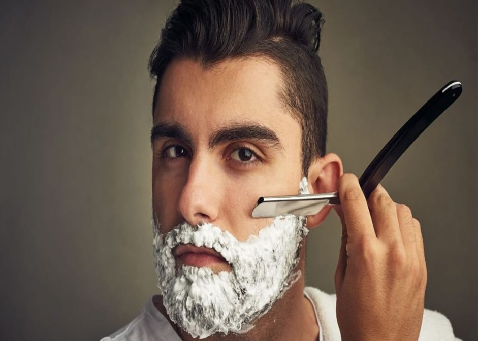 shaving with a cut-throat razor