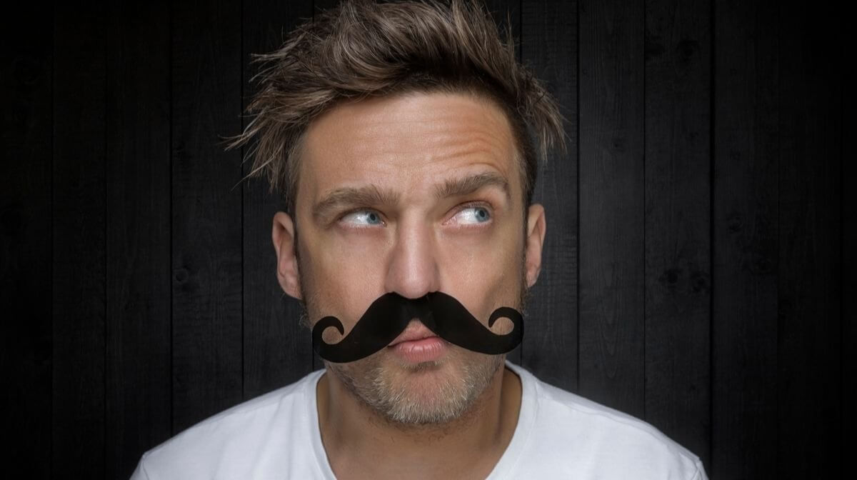 man taking part in Movember