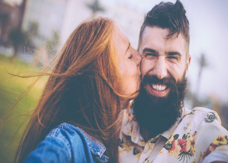 man with a soft beard