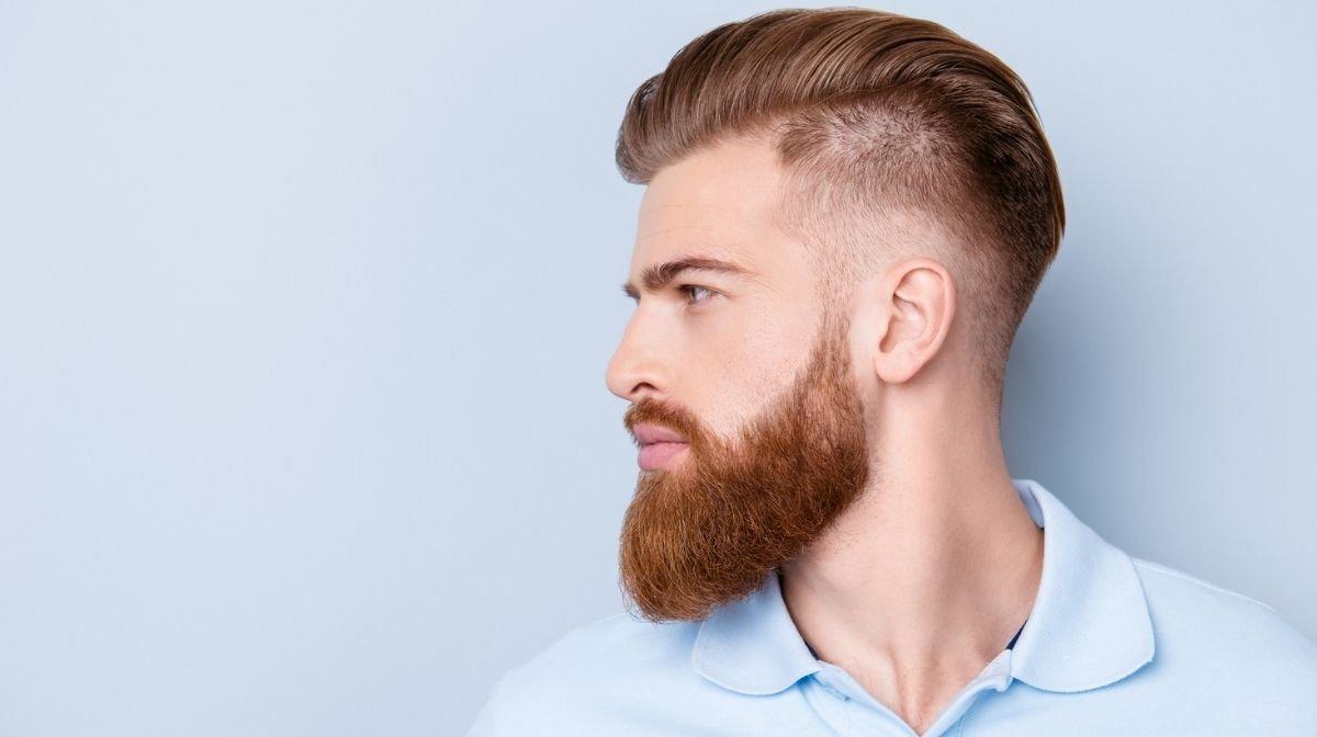 man with a beard fade