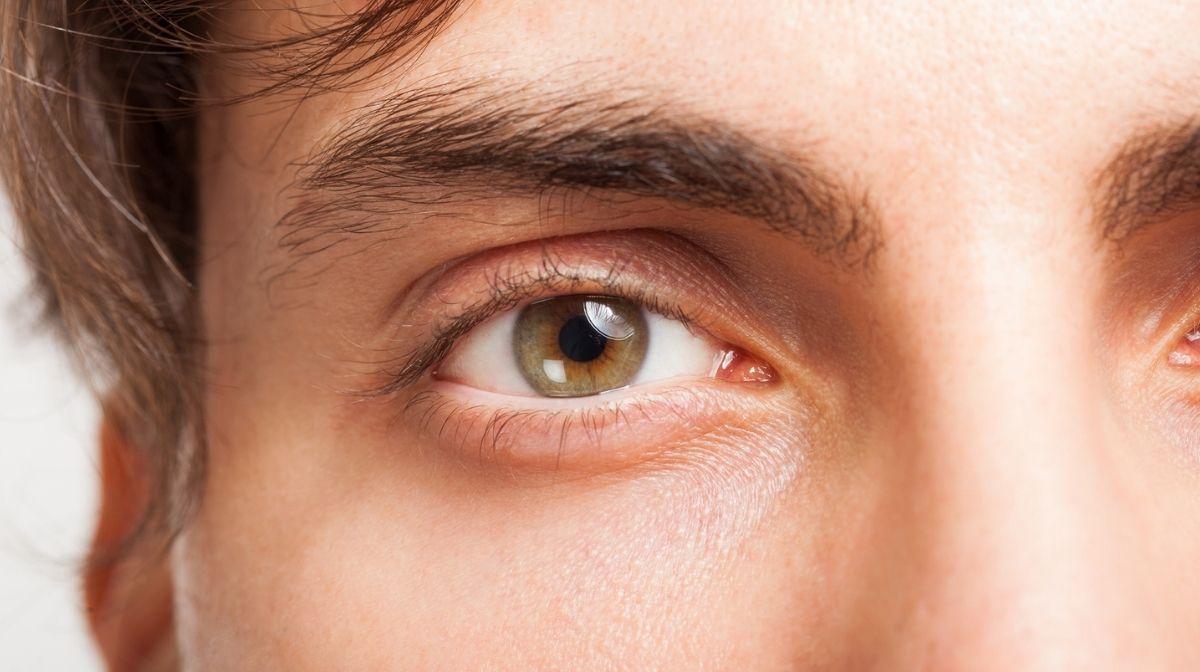 man's eyebrow close-up