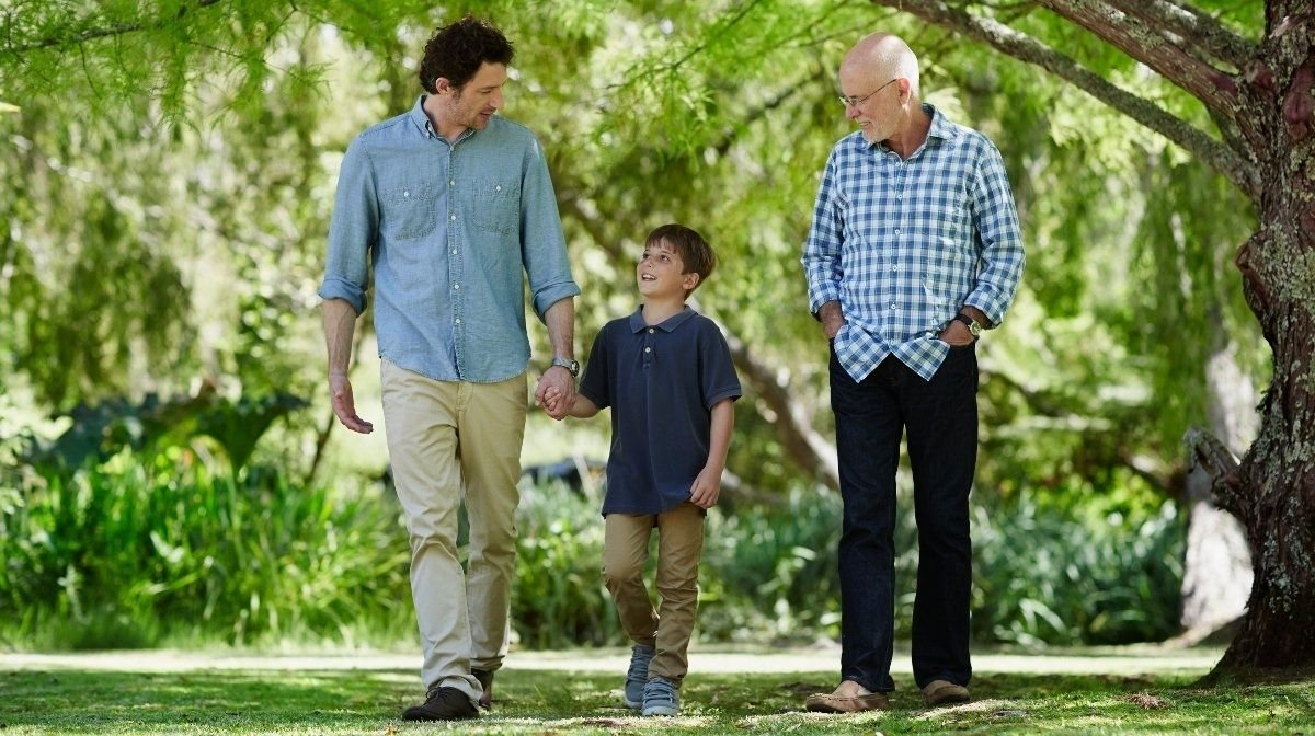 three generations - grandfather, father and son