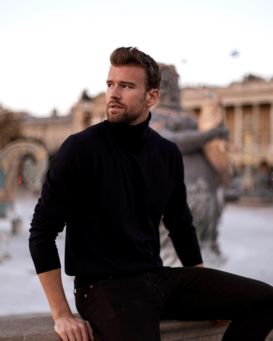 all black outfit men