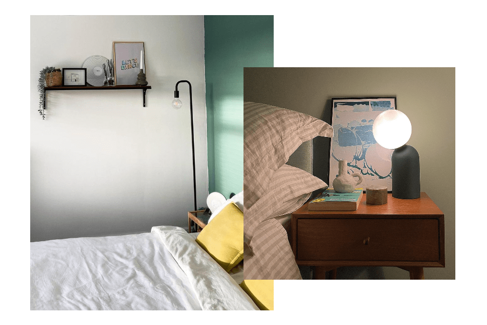 Floor lamp and bedside lamp